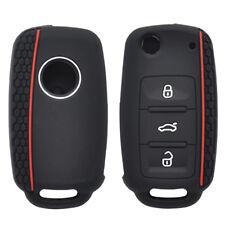 Silicone Key Case Cover For VW POLO Bora Beetle Tiguan Passat Golf Jetta Eos