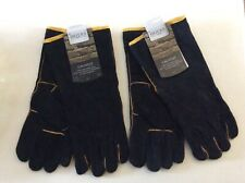 Briars leather B2012 gaunlet protective gardening gloves Large . 2 pairs