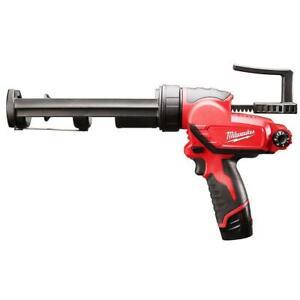 Milwaukee 2441-20 M12 12V 10-Ounce Caulk And Adhesive Gun - Bare Tool