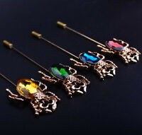 Fashion Crystal Boutonniere Stick Brooch Lapel Pin Accessories For Men's Suit