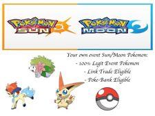 Pokemon Ultra Sun and Moon Pokescrap Event Kaldeo Shaymin Victini 3 Poke Bundle