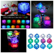 12x Agua Sumergible Intermitente Led Cubitos de Hielo Luz Intermitente Multi-color rocas