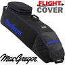 MACGREGOR XL DELUXE WHEELED PADDED GOLF BAG FLIGHT TRAVEL COVER BLACK / BLUE