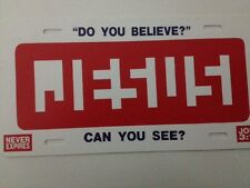 """Can You See Jesus Funny Novelty License Plate Car Tag 6"""" x 12"""""""
