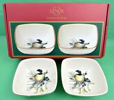 Lenox Winter Greetings Candy Bowls by Catherine McClung Decorative Set of 2 Bird