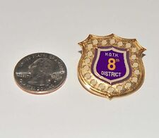 Omega Psi Phi District Badge/Lapel Pin H.O.T.H. 8th District Limited Pin