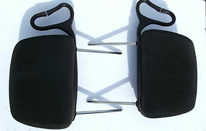 2000-2005 Chevrolet Monte Carlo SS head rest pair L&R OEM Charcoal Gray cloth