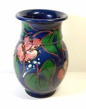 Vintage German Art Pottery Vase Carl Gebauer Handpainted Signed Germany
