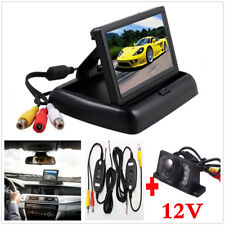 "Wireless Rear View Camera Reverse Kits 4.3"" TFT LCD Monitor Night Vision For Car"
