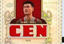 2008 Upper Deck Premier Yao Ming Triple Patch Game Worn Jersey Card #'d 1/25 1/1