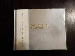 TWENTY-FIFTH 25TH WEDDING SILVER ANNIVERSARY PARTY GUEST BOOK