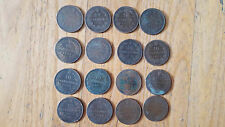 lot de 16 pièce monnaie bronze 19e Italie France divers 10 centime centesimi (2)