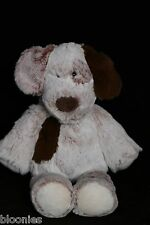 """Mary Meyer 13"""" Super Soft Puppy Dog Plush Toy Doll w/ Brown Ears, Brown Spot"""