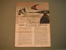 New listing 1969 Arctic Cat Panther Racing News Brochure Volume 1 Number 2 May, 1969