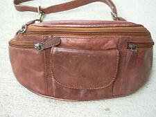 vintage GreenBurry Leather Fanny Pack Waist Bag Hip Belt Pouch Travel