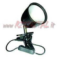 LAMPADA FARETTO SPOT LED 3W da TAVOLO con PINZA CLIP ANCORAGGIO TABELLONI FARO