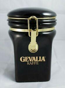 PICK 1 Gevalia Storage Canister Jar Coffee Tea Flour Ceramic Stainless 2 Qt