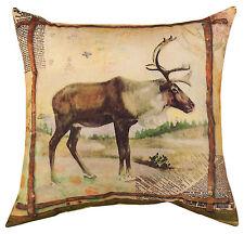 "Throw Pillows - ""Yosemite Lodge"" Elk Pillow - 18"" Square - Lodge Decor"