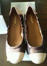 Authentic Coach Callie 12 CM Signature and Leather Matte ballet shoe. Sz 5.5 NIB