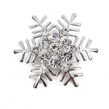 New Hot Snowflake Christmas Brooches and Pins Men Women Brooch Pins Jewelry