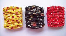 3 pk SMALL Male Dog Diaper Ladybug Bandana Belly Band Elastic 10 11 12 in Wrap