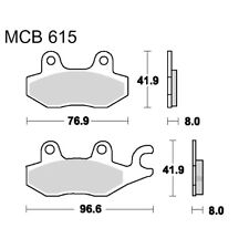 Trw-Lucas Srm Scooter Cover Brake Pads Mcb615Srm For Hyosung Ms3 250 I 2008 -