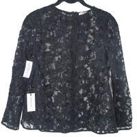 NWT Aritzia Babaton Black Ian Lace Long Sleeve Top XS