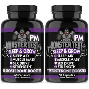 Angry Supplements MONSTER TEST PM Testosterone Booster Sleep Aid Sex Drive 2pack