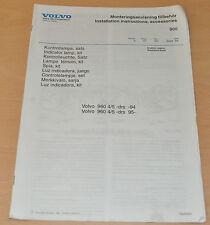 Werkstatthandbuch Volvo 960 BJ94/95  Kontrolleuchte Satz 9 Sprachig