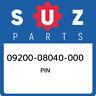 09200-08040-000 Suzuki Pin 0920008040000, New Genuine OEM Part