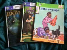 Lot of 3-Leap Frog Books Disney Pixar Brave-Tangled-Rose and Hope