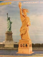 Woodcraft Construction Kit The Statue Of Liberty Assembly 3D Icon P031 New