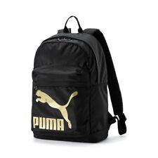 Puma Originals mochila espalda negro dorado F09