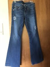True Religion Brand Jeans Bootcut Distressed Size 28