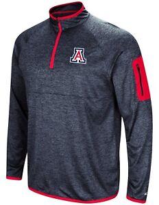 """Arizona Wildcats NCAA """"Screen Pass"""" Men's 1/4 Zip Poly Slub Jacket"""