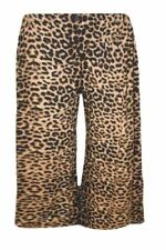 Ladies Women Elasticated Stretch Print Wide Leg Cullottes Shorts Size 8 to 26
