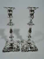 Victorian Candlesticks - Antique Georgian Pair - English Sterling Silver   1894