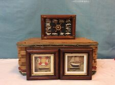 Nautical Framed Wood Shadow Box Knots, Boat, Triple Block Art Beach House