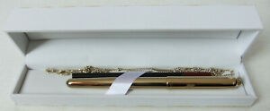 RARE, VINTAGE QUALITY GOLD PLATED NINA RICCI ROLLERBALL PEN IN BESPOKE HARD CASE