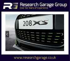 New Peugeot 208 Front Colour Grill Red White Chrome Black Green