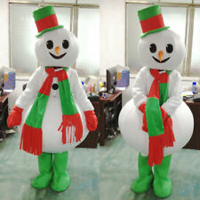 Christmas Snowman Mascot Costume Party Fancy Dress Street Display Costume Adult