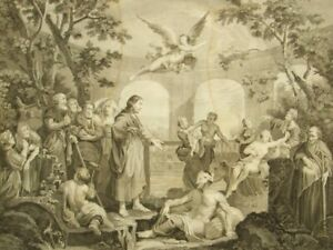 Bethesda, Thomas Cook after William Hogarth antique copper etching; 1802
