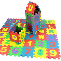 36Pcs Child Baby Number Alphabet Puzzle Foam Maths Educational Toy Gift New USA