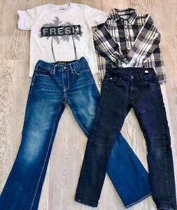 Boys 10 Moto 12 Gap Jeans 8 Fresh Tee Shirt M Old Navy Long Sleeve Shirt 374