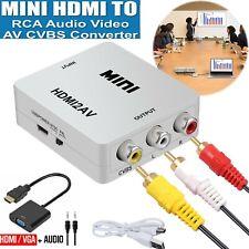 Hdmi to Av Converter Output Digital to Rca Analog Audio/Video Input Composite