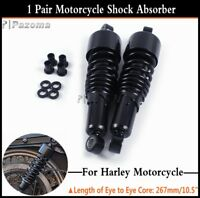 "Pair 267mm/10.5"" Adjustable Rear Shock Absorber For Harley Touring FLH/FLT 80-17"