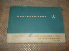 MERCEDES-BENZ MEDIUM DUTY SEMI FOWARD CONTROL VEHICLES OWNERS GLOVEBOX MANUAL