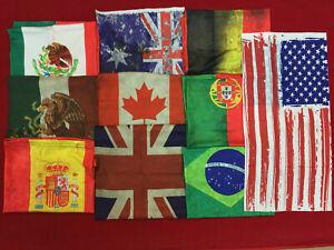 COUNTRY FLAG Face Mask Shield Bandana Scarf Tube Washable Reusable Cover Shield