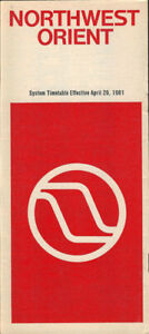 Northwest Orient Airlines system timetable 4/26/81 [308NW] Buy 4+ save 25%