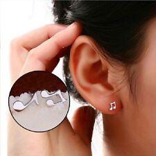 Cute Asymmetry New Jewelry Stud Earrings Musical Note Shape Artistic Gift